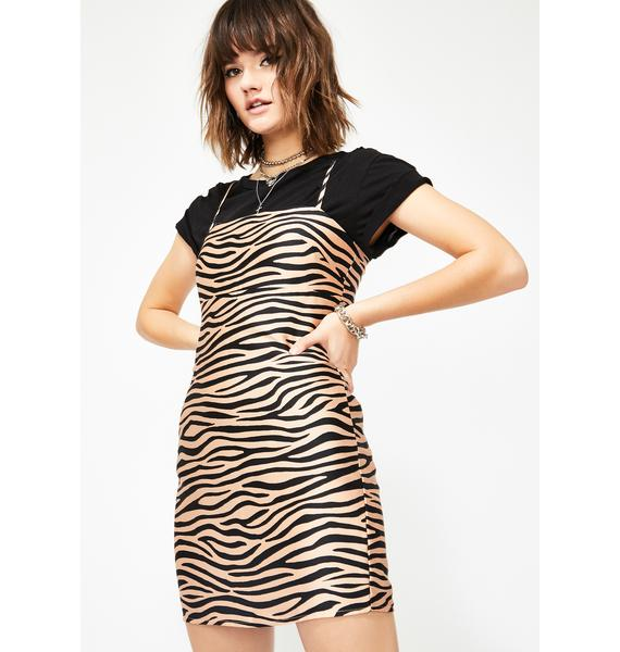 Primal Punk Zebra Dress
