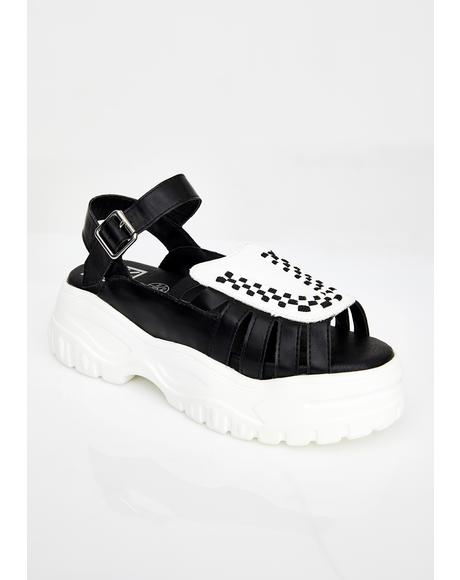 Wave Platform Creeper Sandal