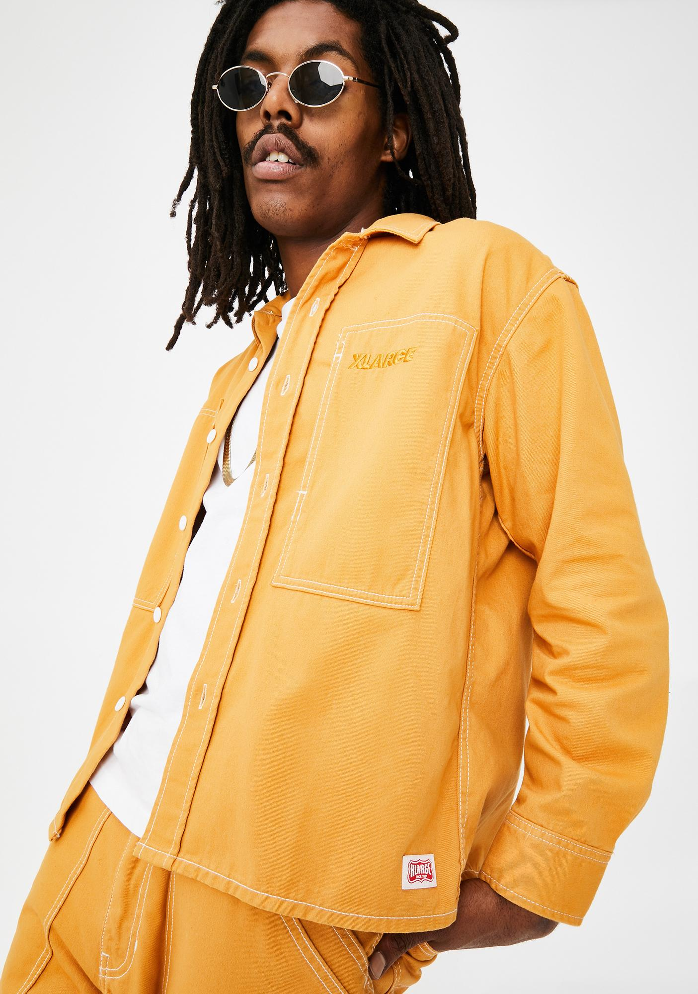 XLARGE Yellow Stitch Work Shirt