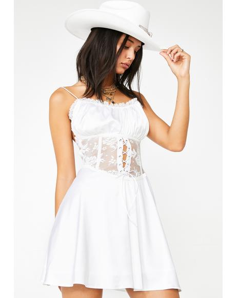 White Ace Corset Dress