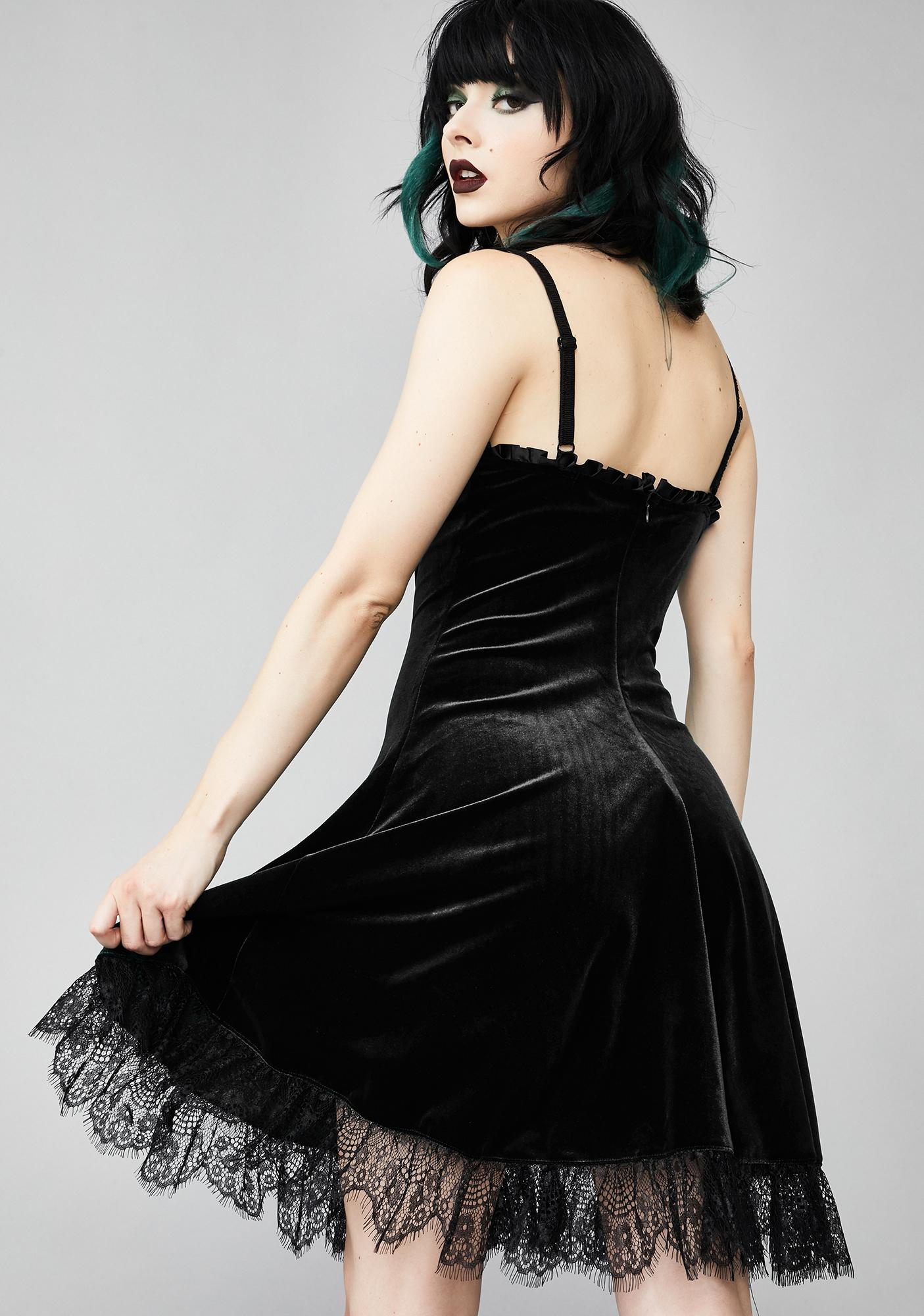Widow Midnight Blind Faith Velvet Dress