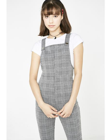 Teen Idle Plaid Overalls