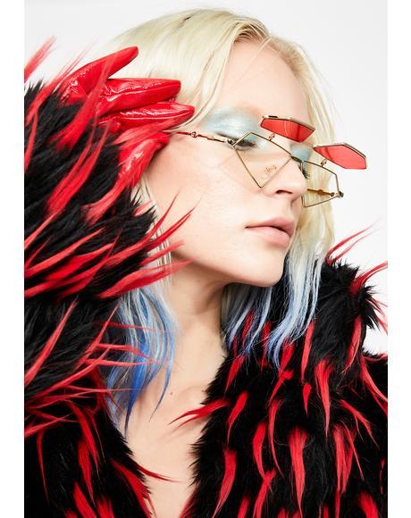 Fire Diamond Daze Flip-Up Sunglasses