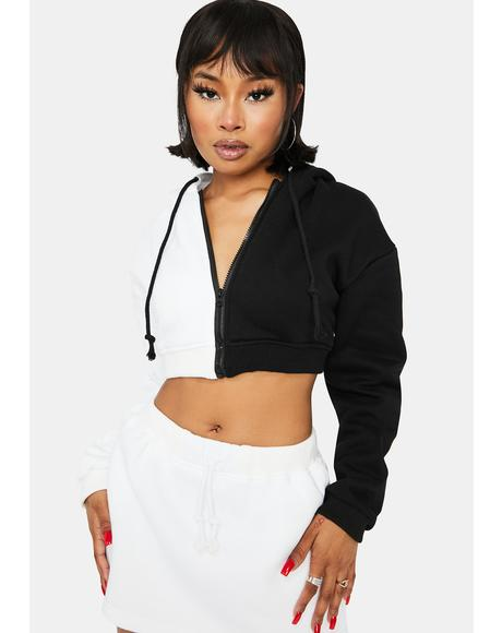 Domino Two Face Zip Up Hoodie