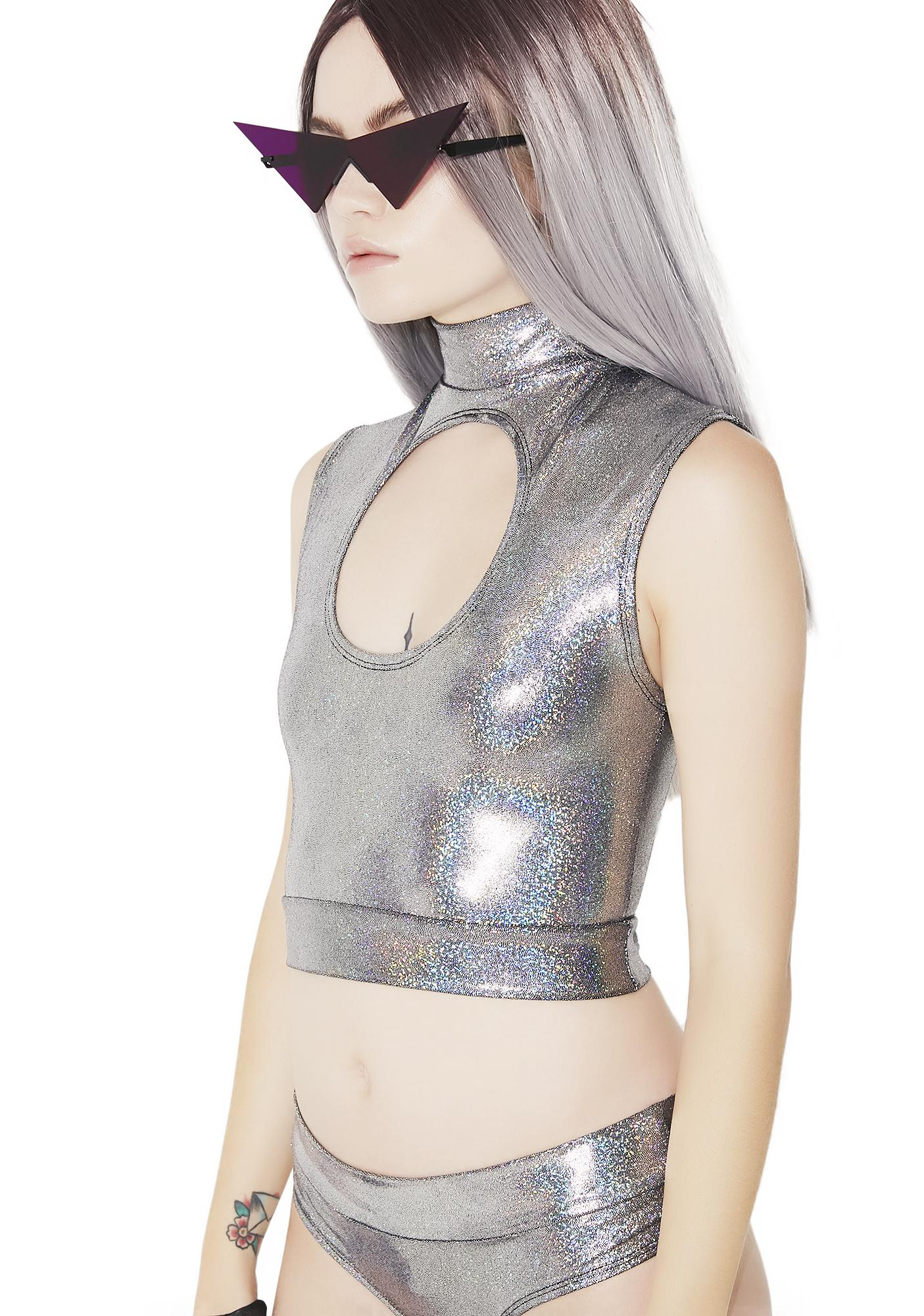 Sugarpuss Total Eclipse Cutout Crop Top