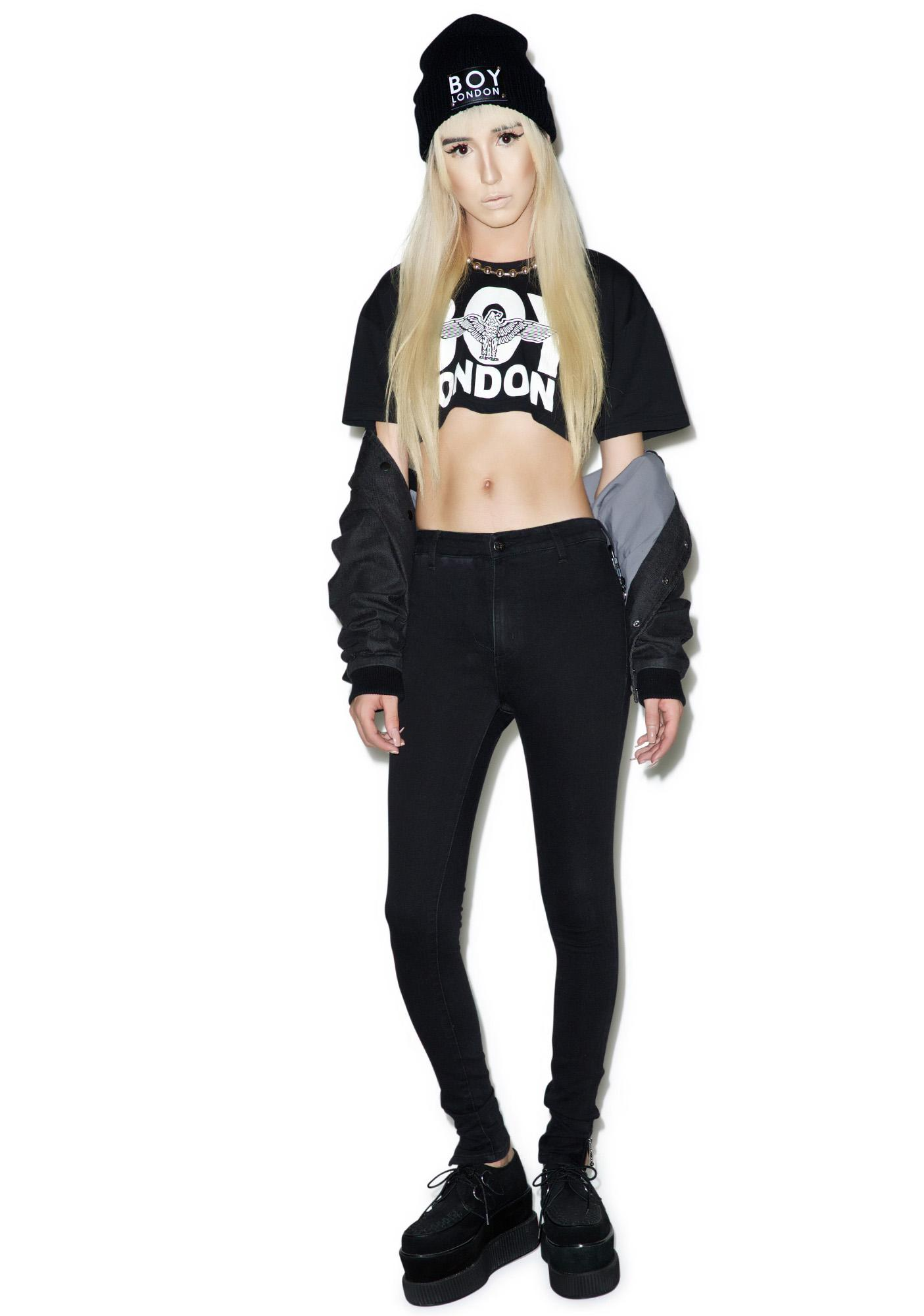 BOY London Boy High Waist Skinny Jeans | Dolls Kill