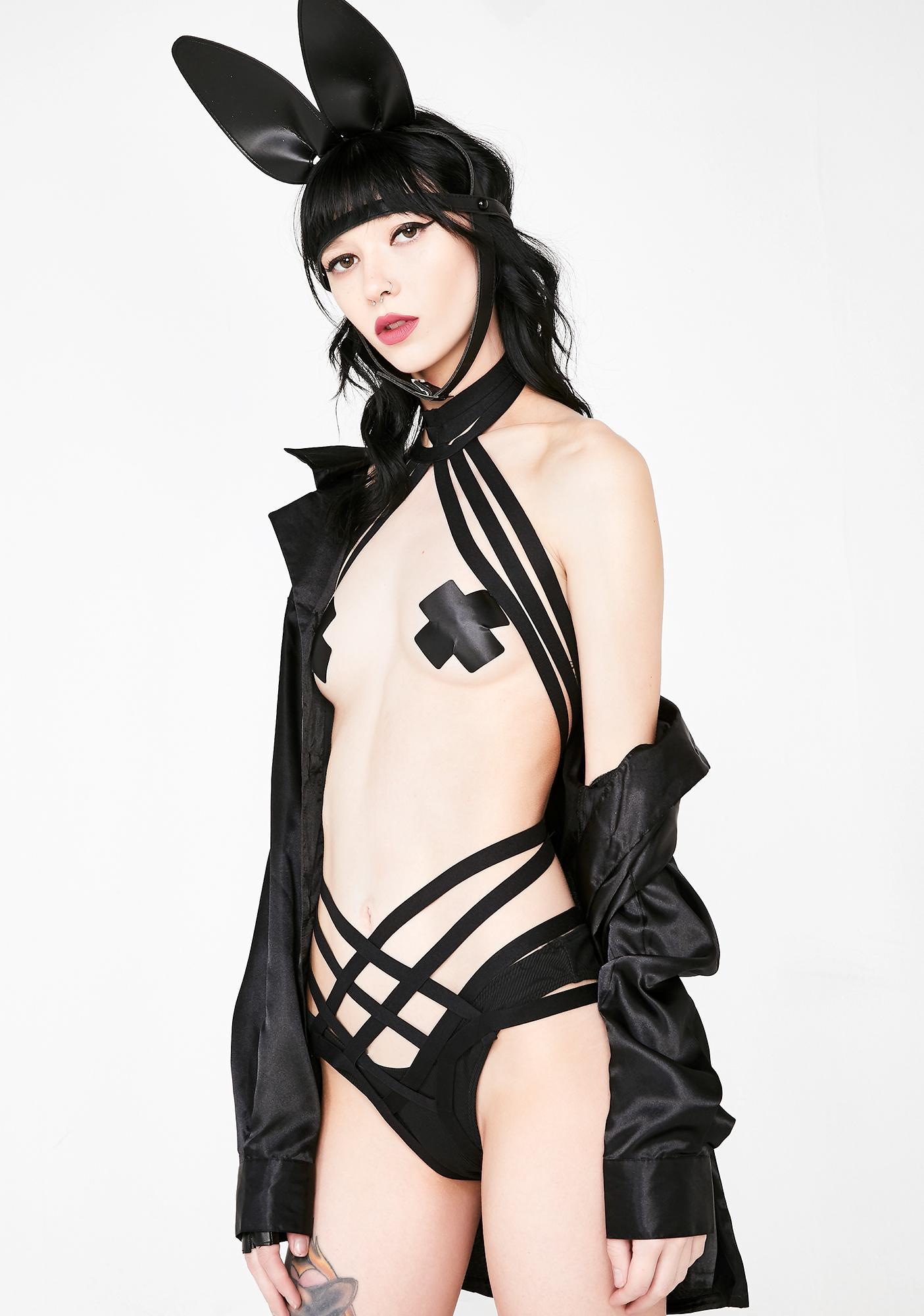Kiki Riki Wanna Be Down Harness Bodysuit
