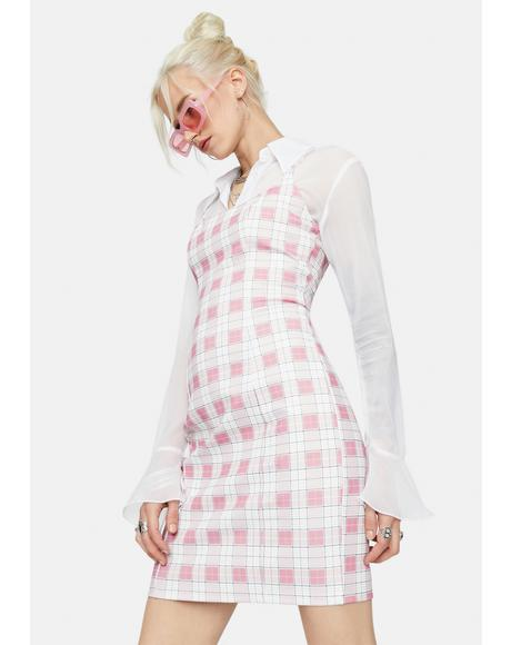 Sweet My Own Motives Plaid Mini Dress