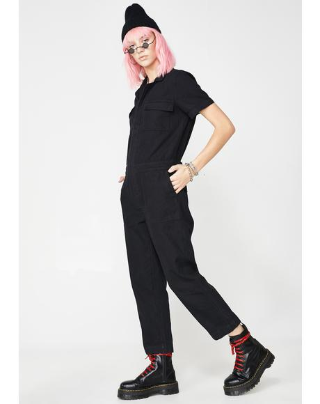 Sinful Werkin' Girl Carpenter Jumpsuit