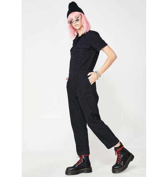 Sinful Werkin' Girl Carpenter Jumpsuit