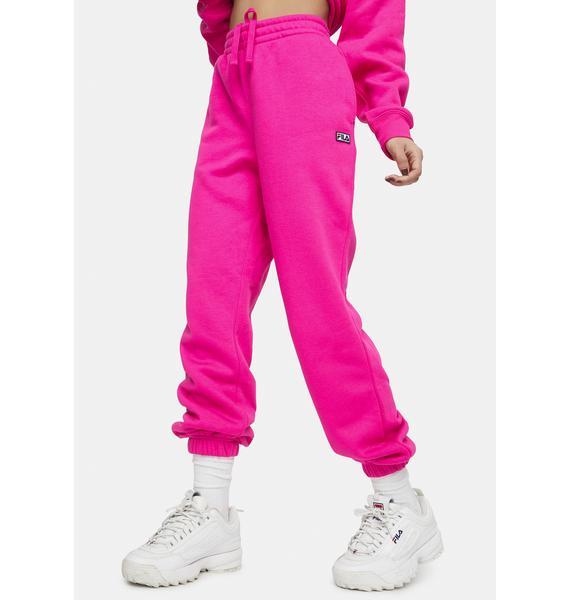 Fila Pink Glow Lassie Joggers