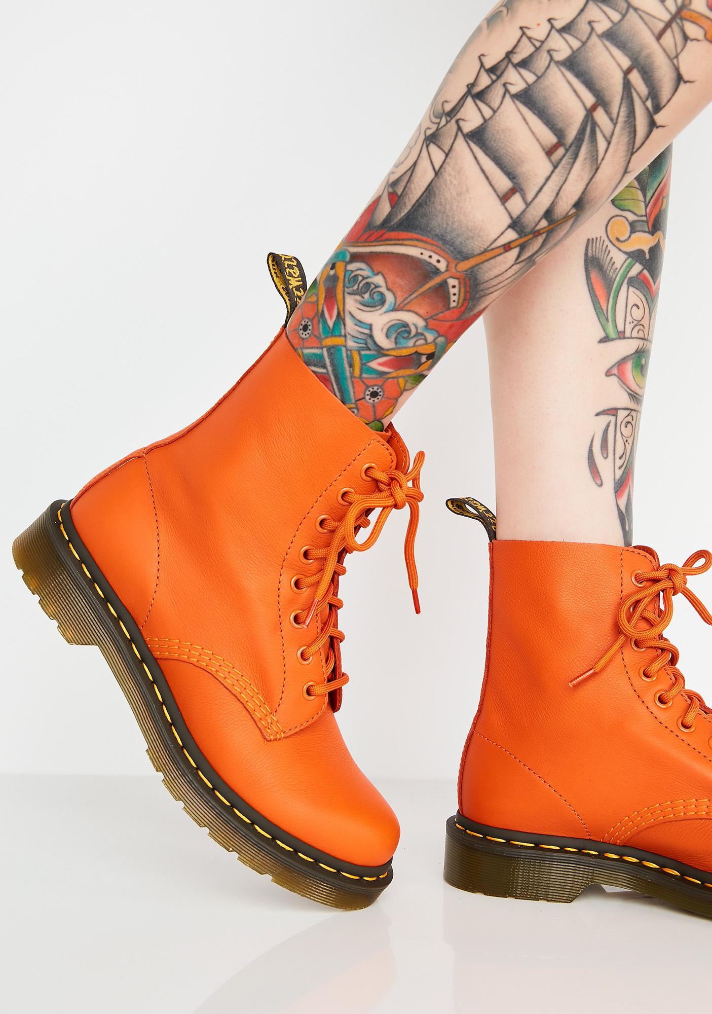 Dr. Martens 1460 Pascal Burnt Orange Boots