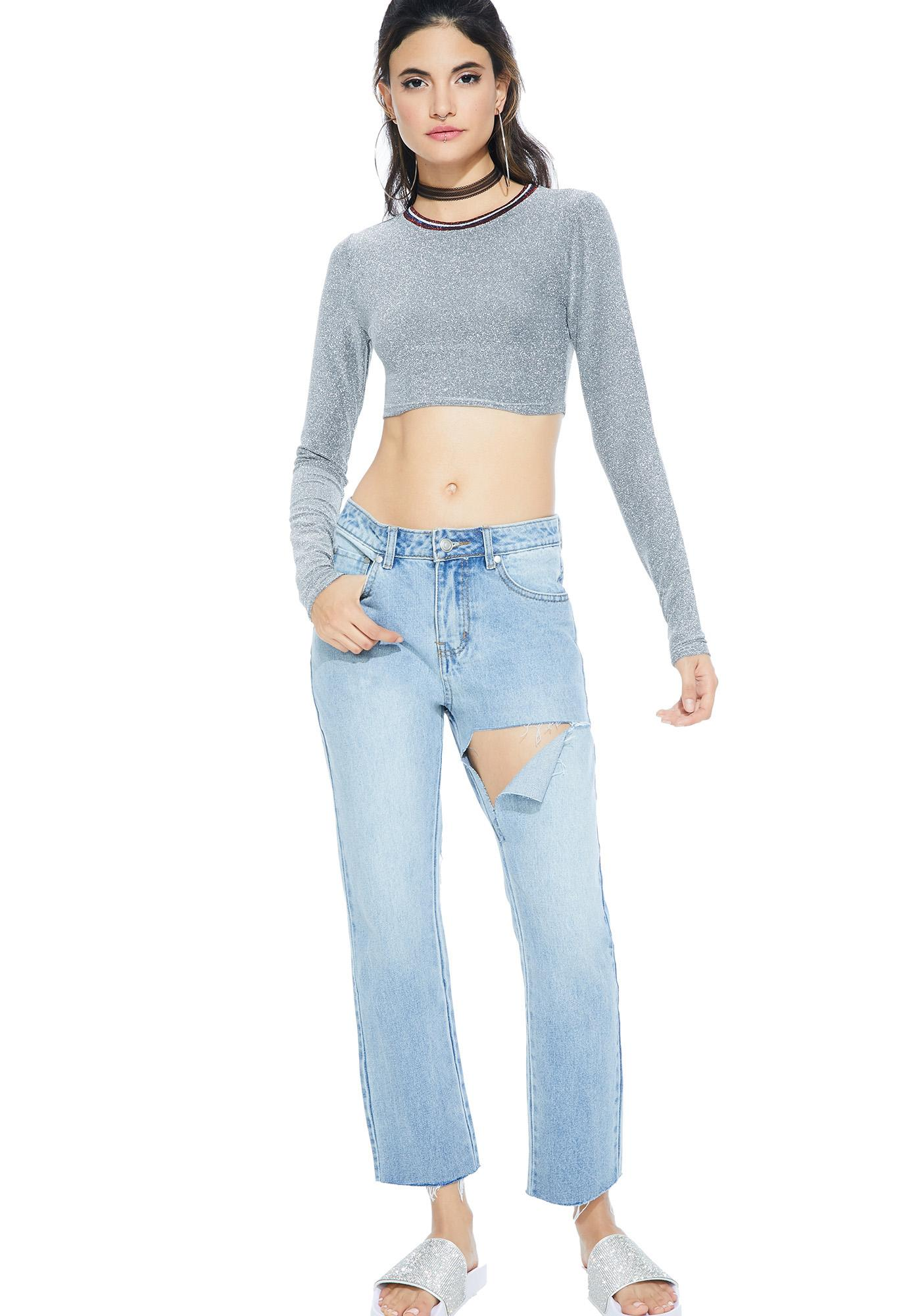 Beaming Sparkle Crop Top