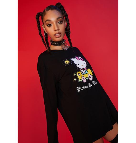 Dolls Kill x Hello Kitty Easy Rider Long Sleeve Graphic Tee