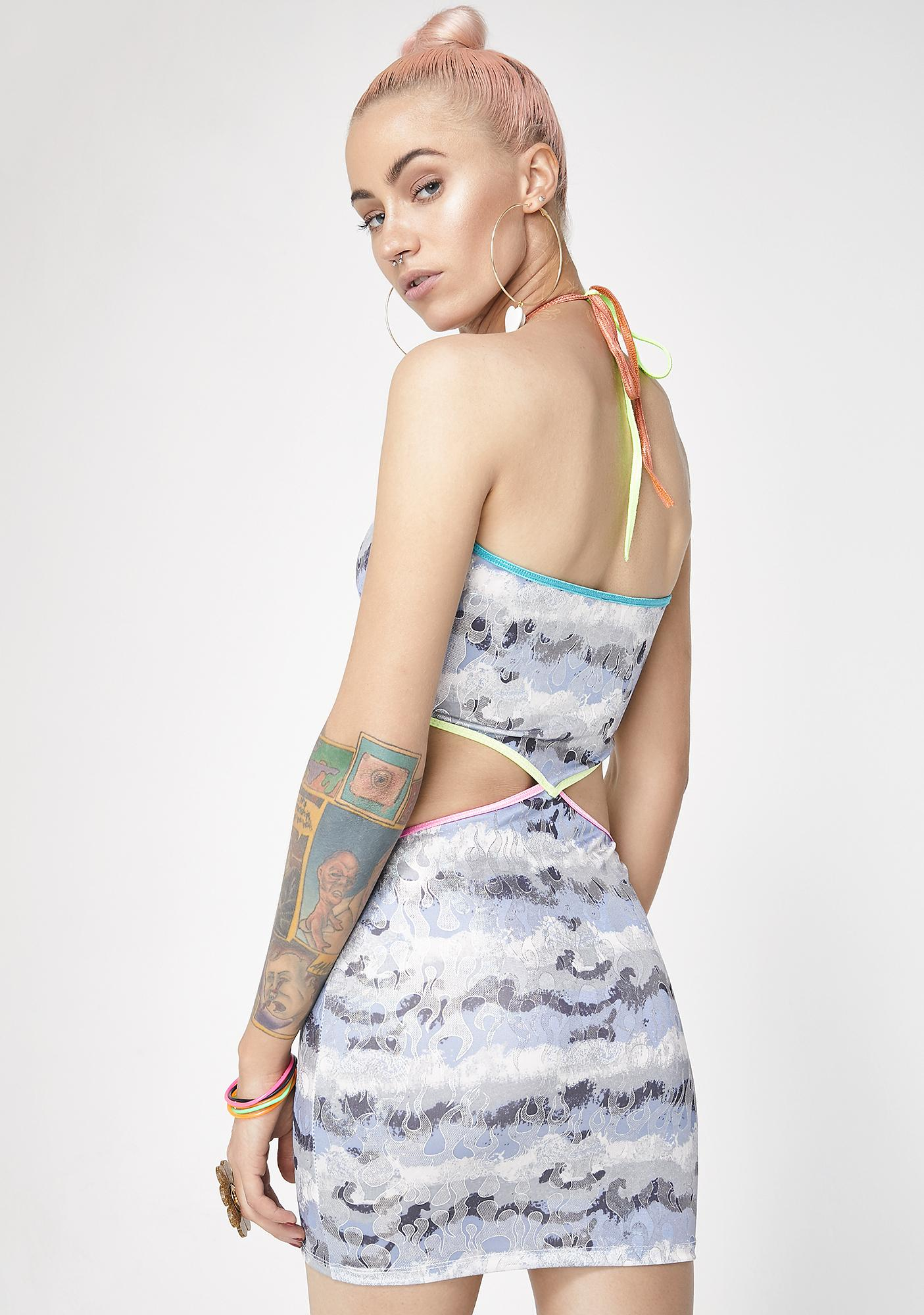 Club Exx Wildfiyah Cut-Out Dress