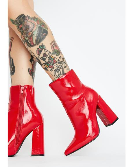 Hot Drama Mama Ankle Boots