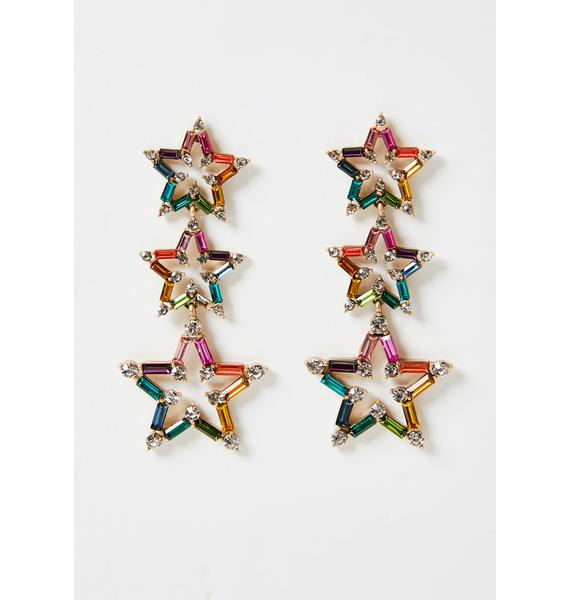 Crystallized Fate Star Earrings
