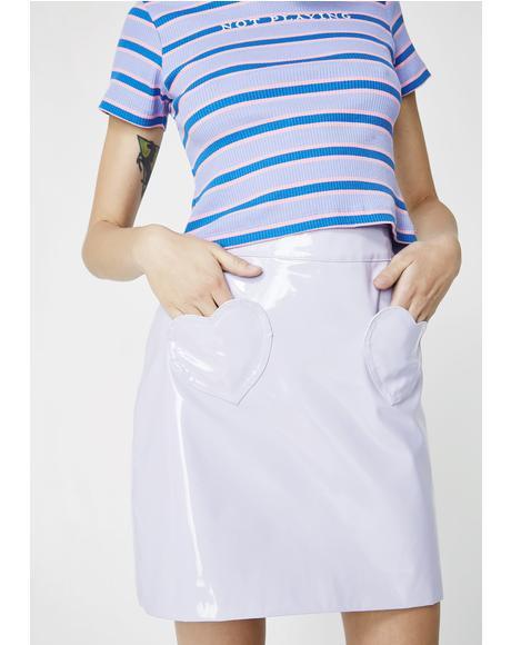 Lilac Vinyl Skirt