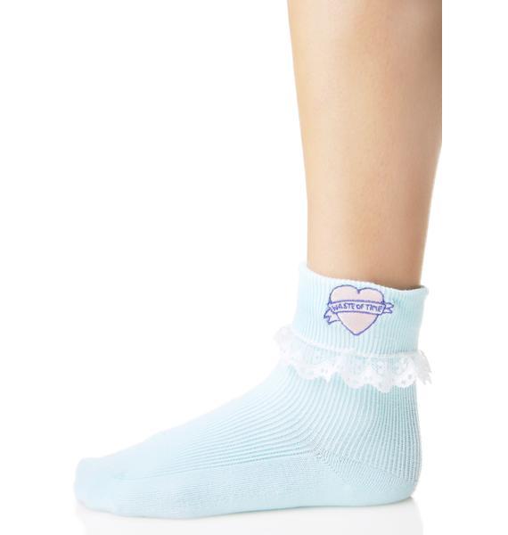 Lazy Oaf Waste Of Time Socks