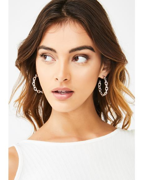 Word On The Street Hoop Earrings