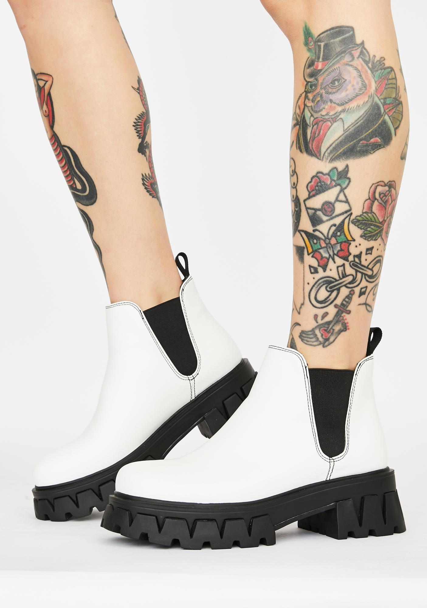 Koi Footwear White Raptor Chelsea Boots