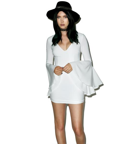 Wild Bell Sleeve Mini Dress