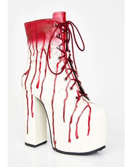Scream Queen Platform Boots
