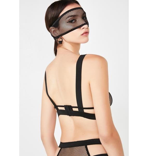 Forbidden Liaison Lingerie Eye Mask Set