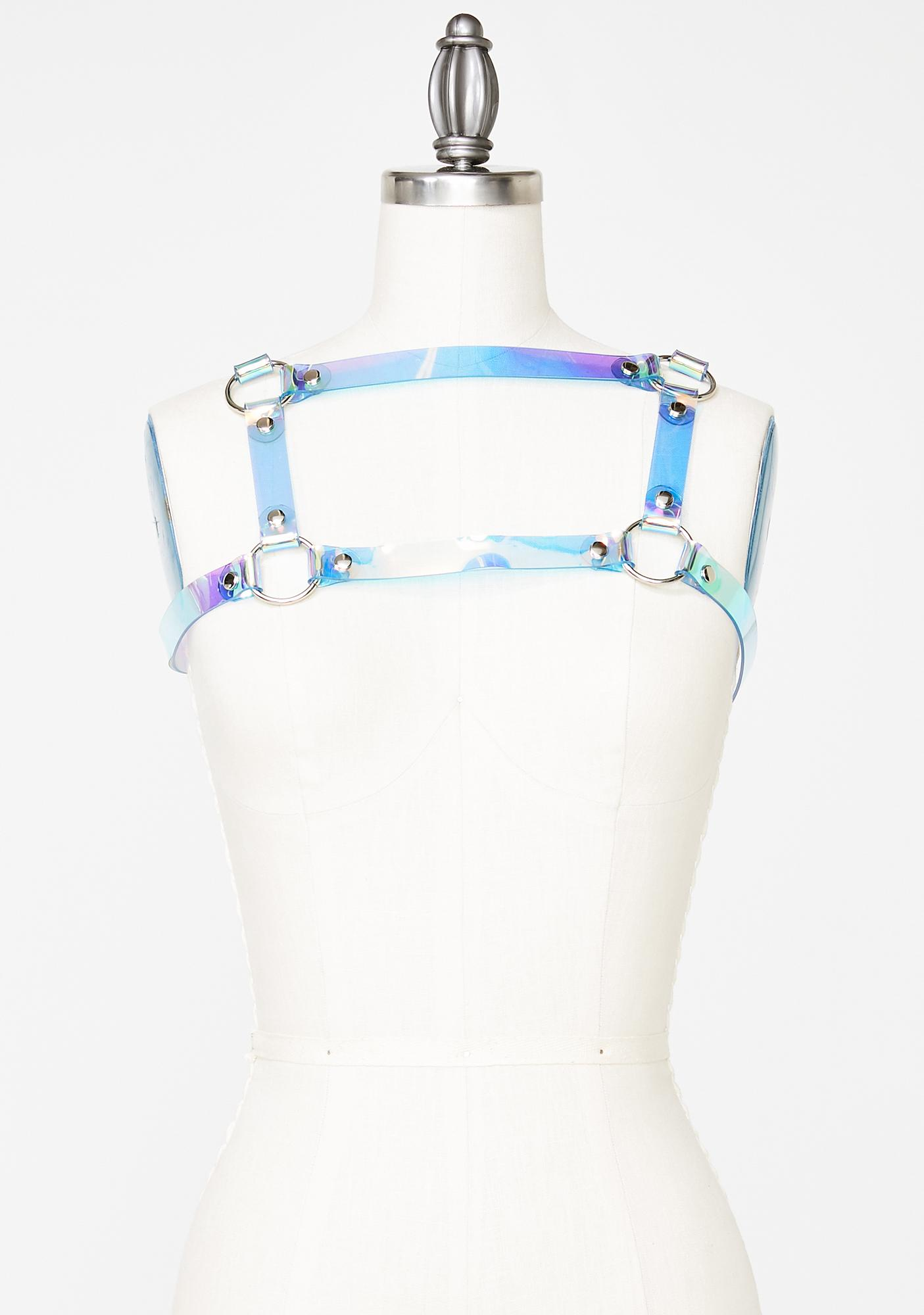 Apatico Holographic Cold Shoulder Harness