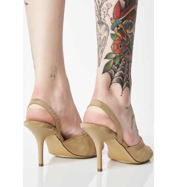 Tan Pull The Receipts Slingback Heels