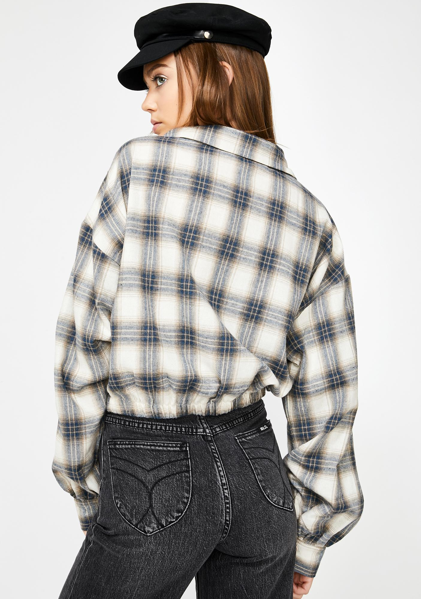 Lay Low Cropped Flannel