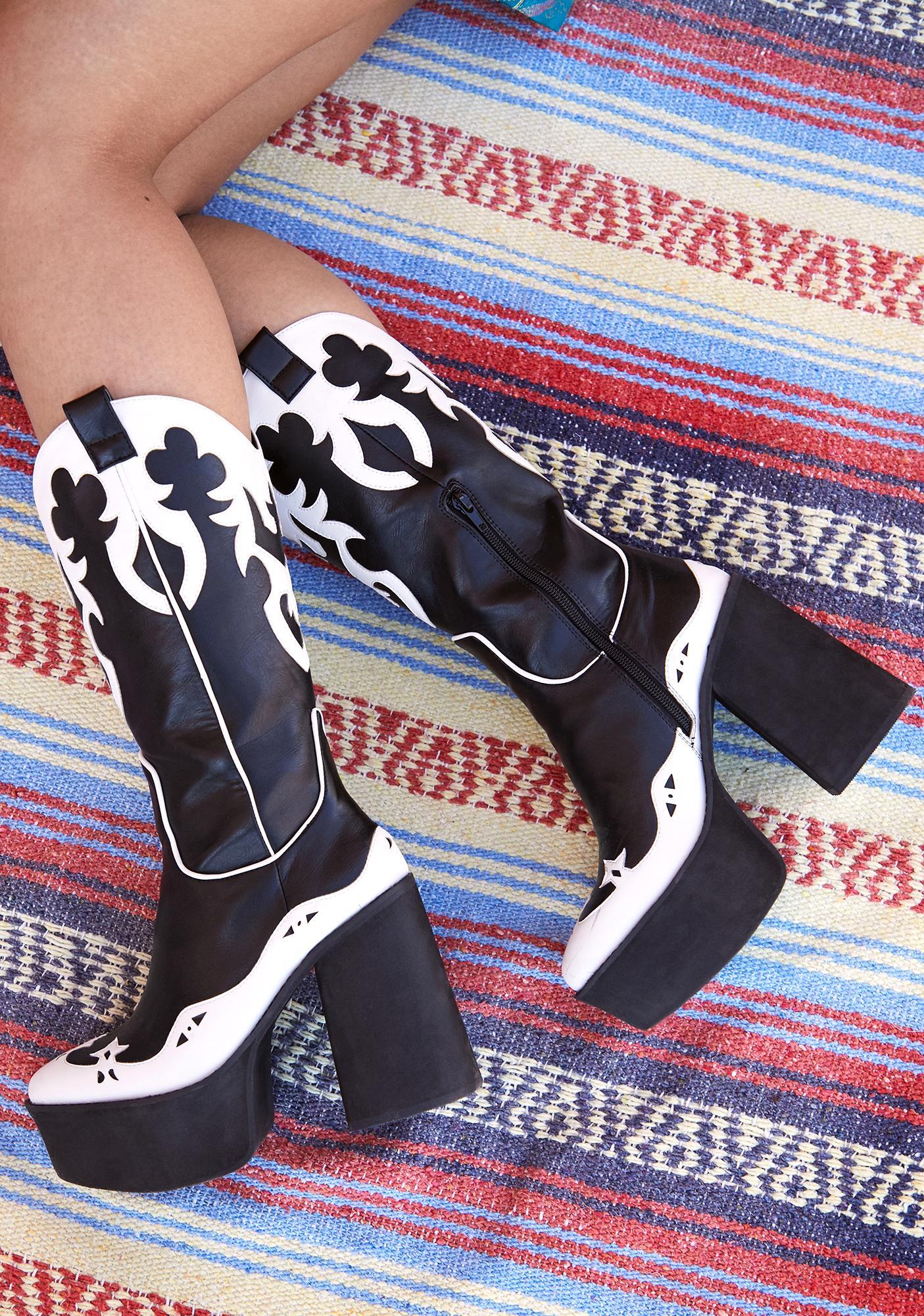 Current Mood Never Coming Back Cowboy Boots