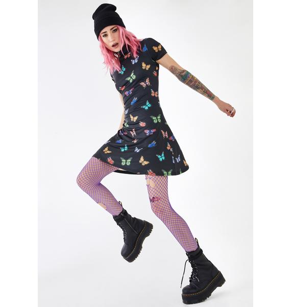 Current Mood Fly Groove Butterfly Dress