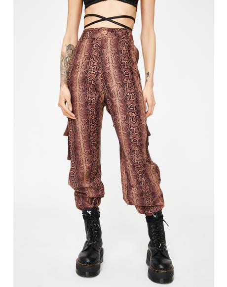 Tan Python Matira Cargo Pants