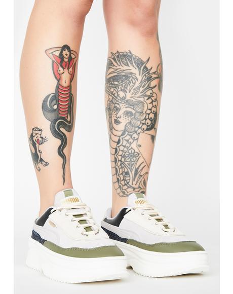Deva Reptile Platform Sneakers
