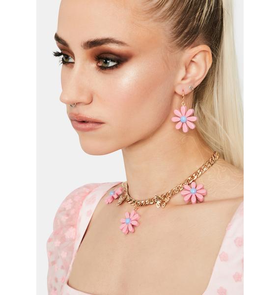Daring Daisy Earrings Set