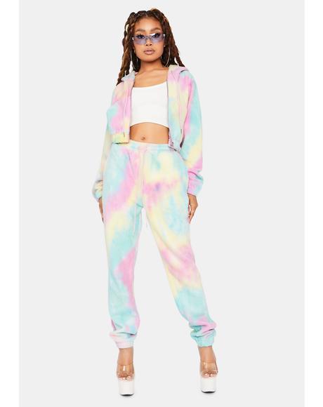 Your Little Sweetie Rainbow Fleece Tracksuit Set