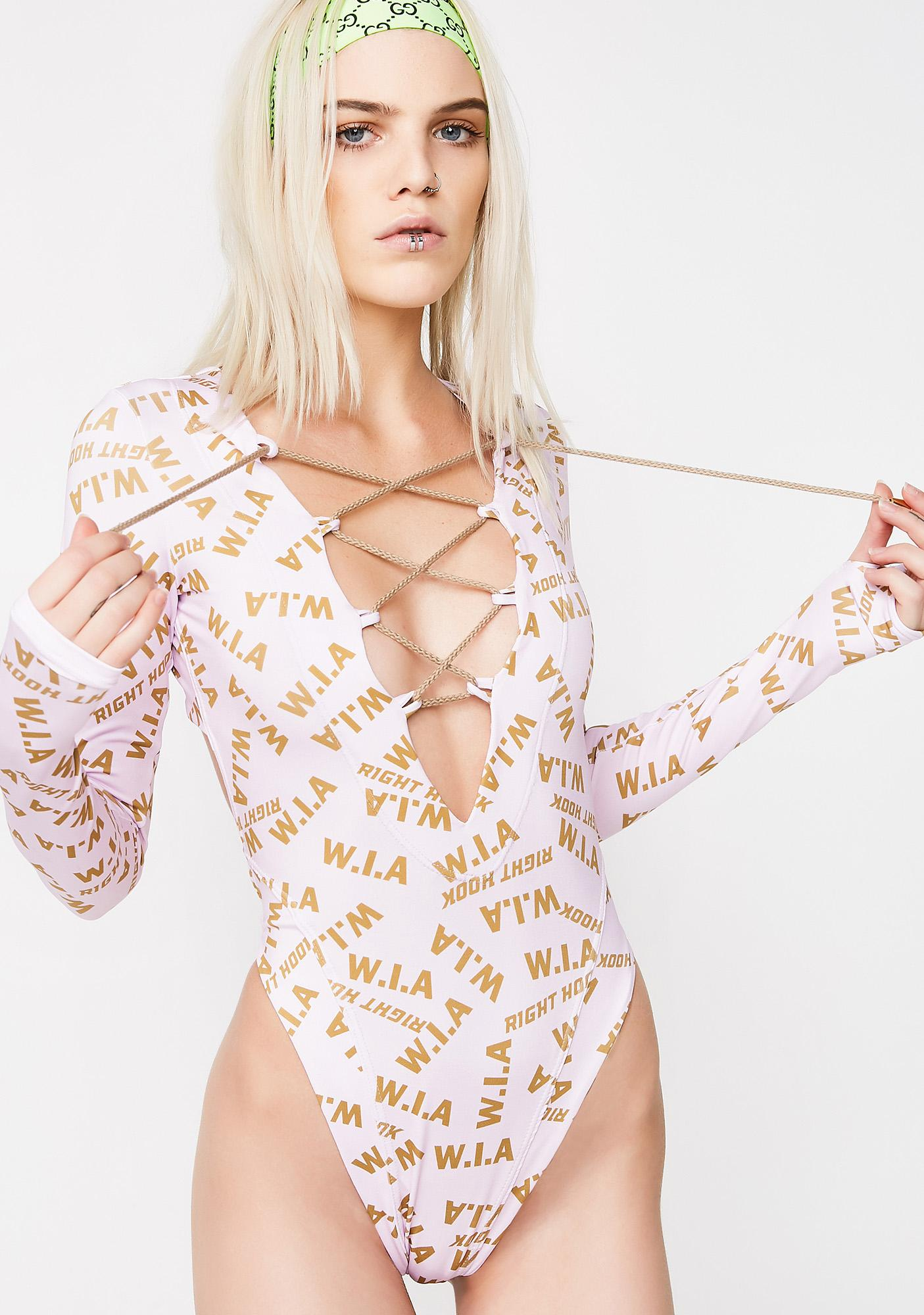 W.I.A Ring Pink Bodysuit