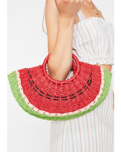 Juicy Watermelon Straw Bag