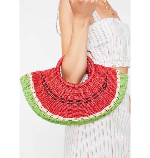 Juicy Watermelon Straw Bag
