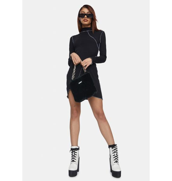 Kiki Riki Sleek Secrets Long Sleeve Mini Dress