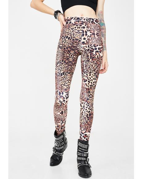 Amur Leopard Velvet Leggings