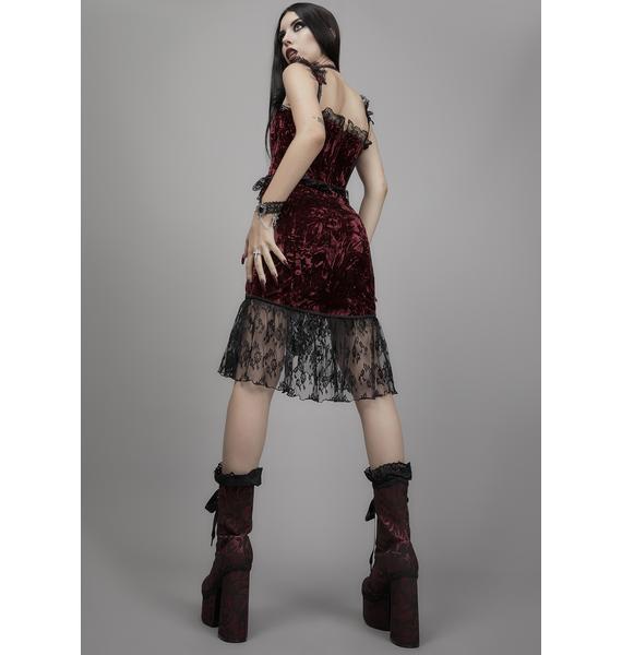 Widow Killer In Me Velvet Skirt