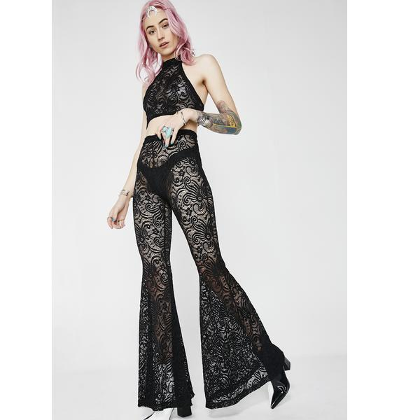 J Valentine Midnight Cyclone Lace Bell Bottoms
