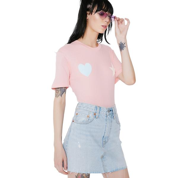 Wildfox Couture Heart And Star Bodysuit