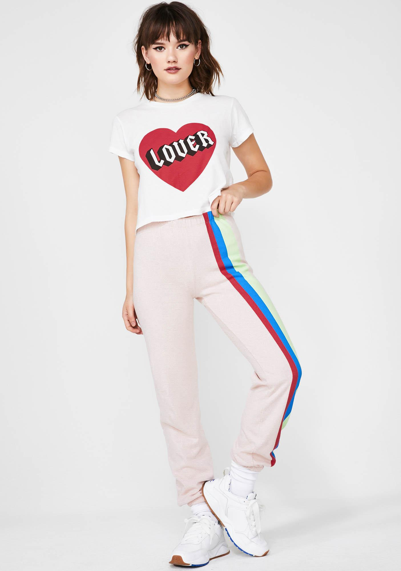 Wildfox Couture Mellow Stripes Easy Sweats
