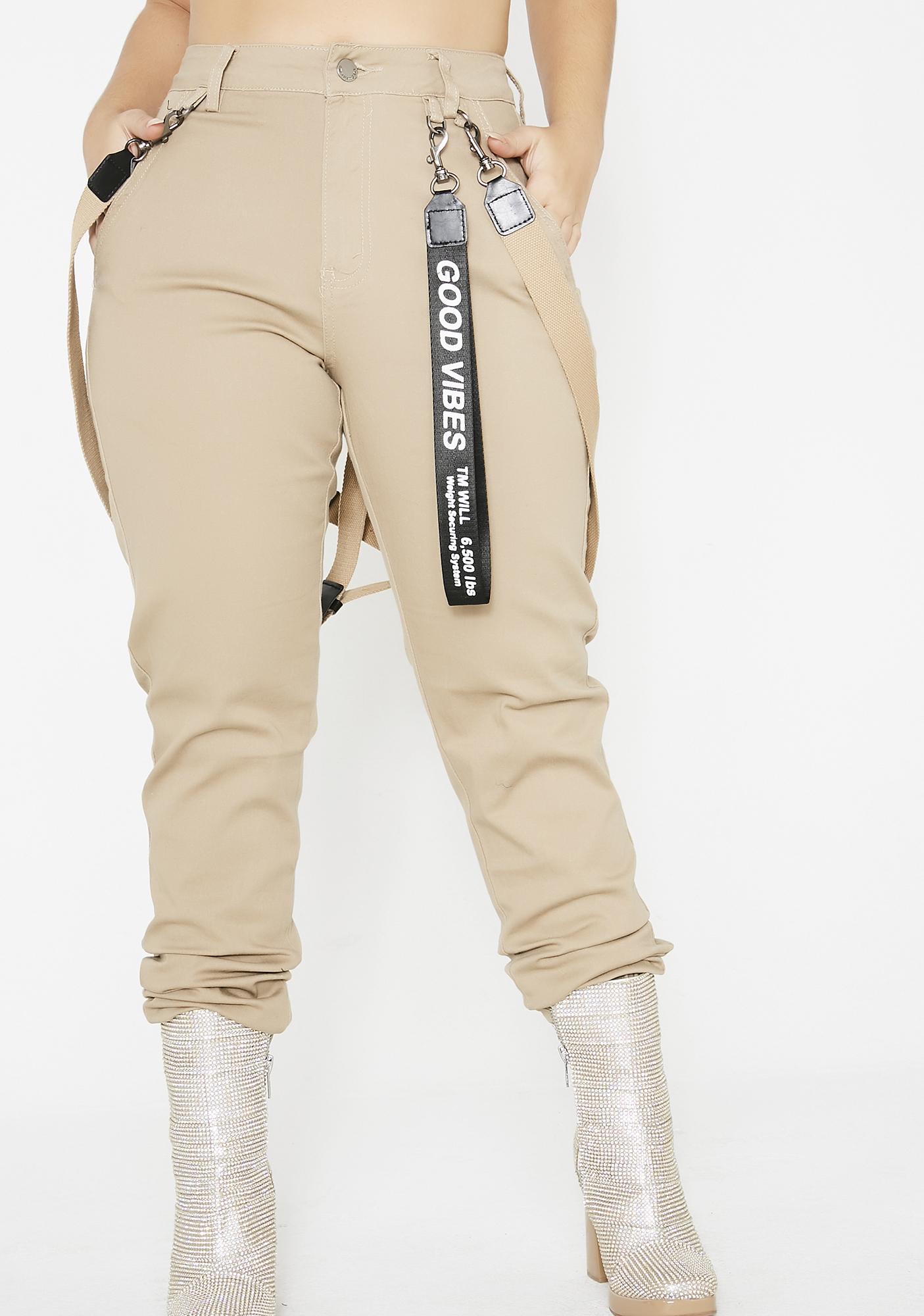 Mocha Xtra Spice Suspender Joggers