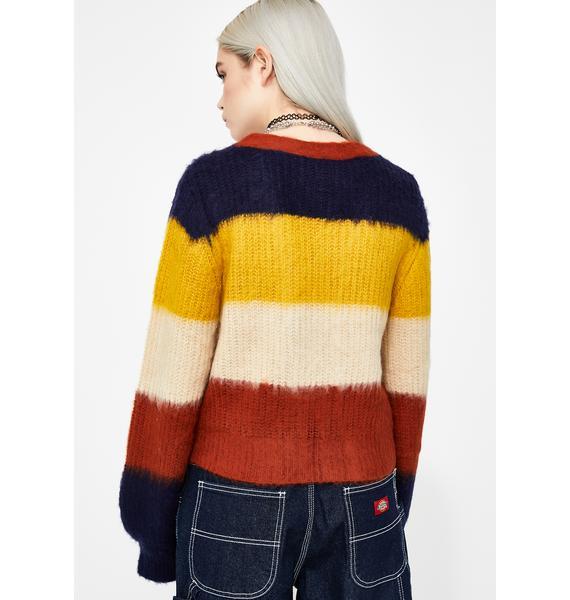 Autumn Love Stripe Cardigan