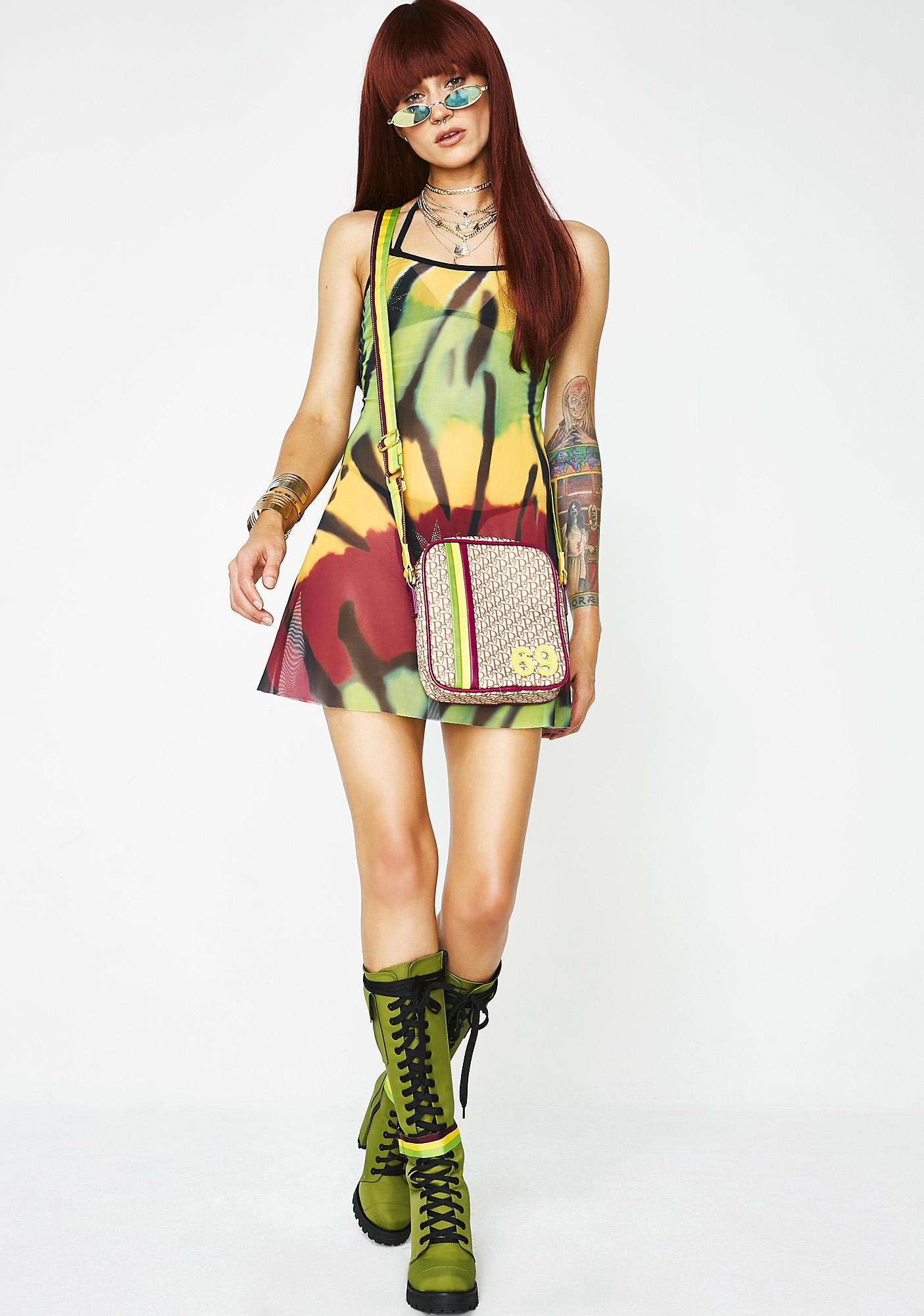 Poster Grl Let's Get Together Tie Dye Dress