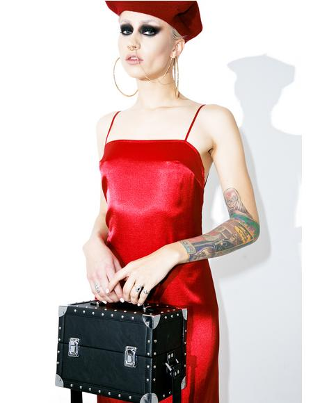 Temptress Satiny Maxi Dress